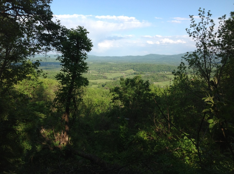 The view from Rockfish Gap.